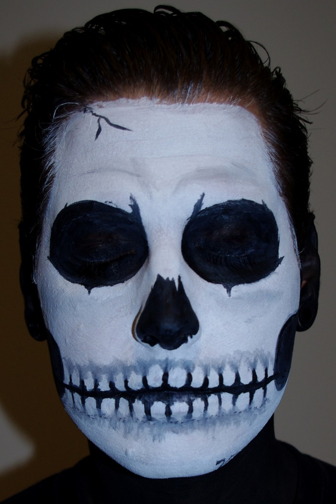 Halloween Skull Face Paint Makeup Tutorial