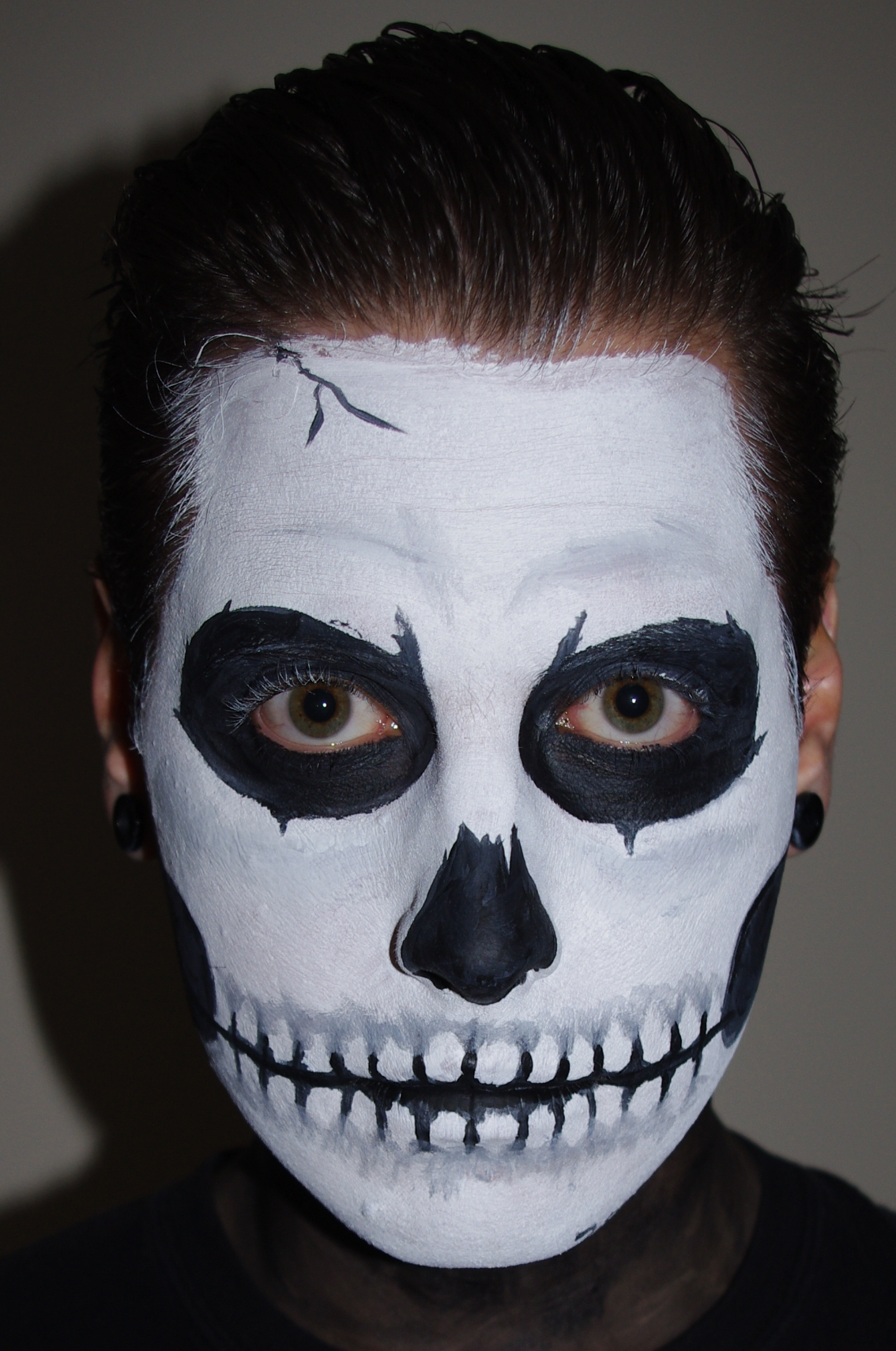 halloween skull face paint makeup tutorial. Black Bedroom Furniture Sets. Home Design Ideas