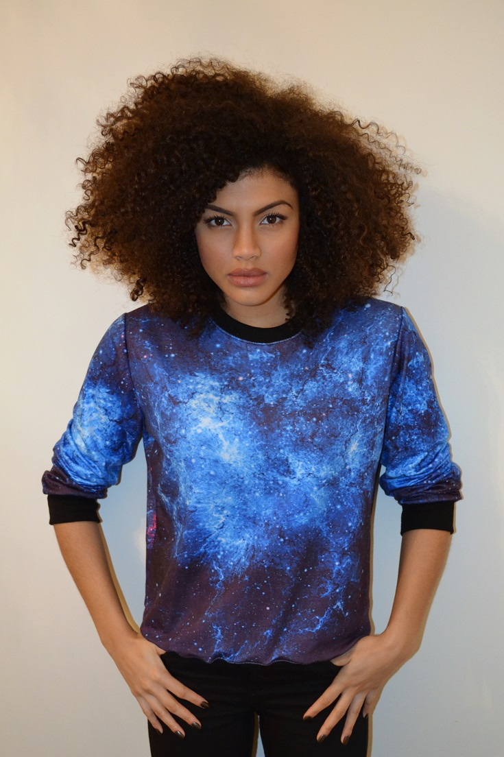 Samio Galaxy Space print sweater