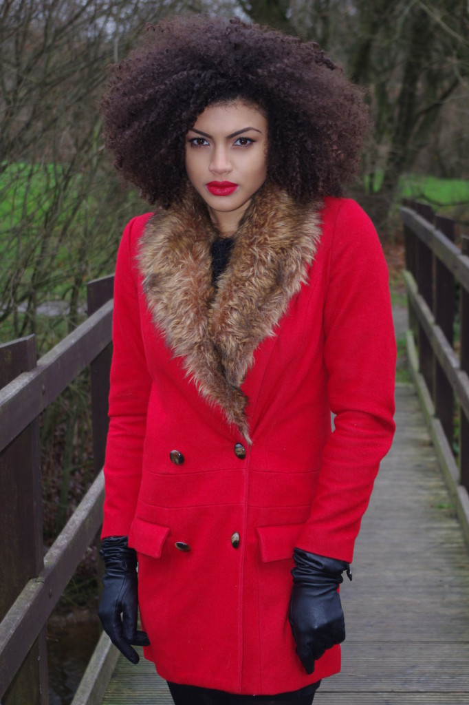 Samio Red Asos Coat