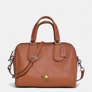Coach x Peanuts collection brown bag