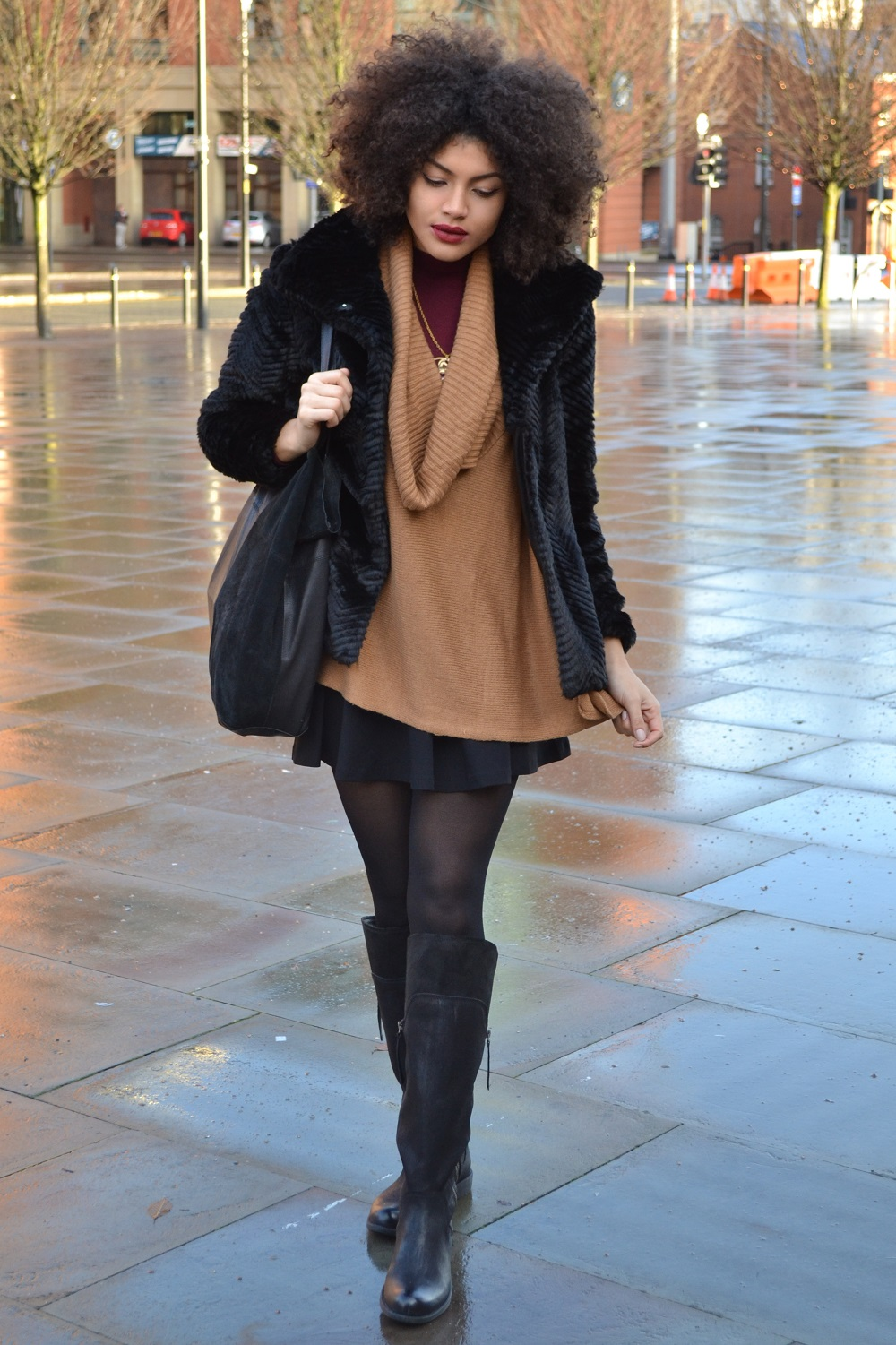 knee high boots outfit