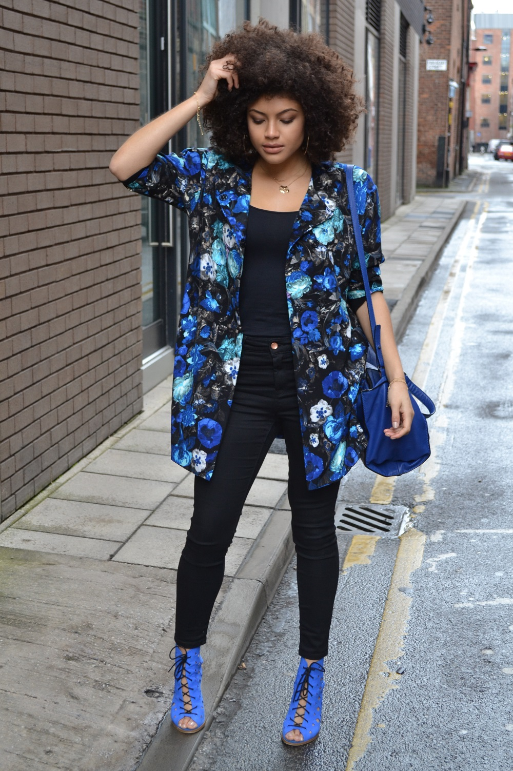 Lavish Alice Jacket, Asos Jeans and Urban Outfitters Heels