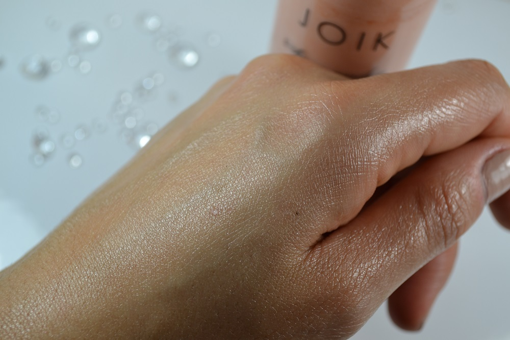 JOIK Shimmering body lotion review
