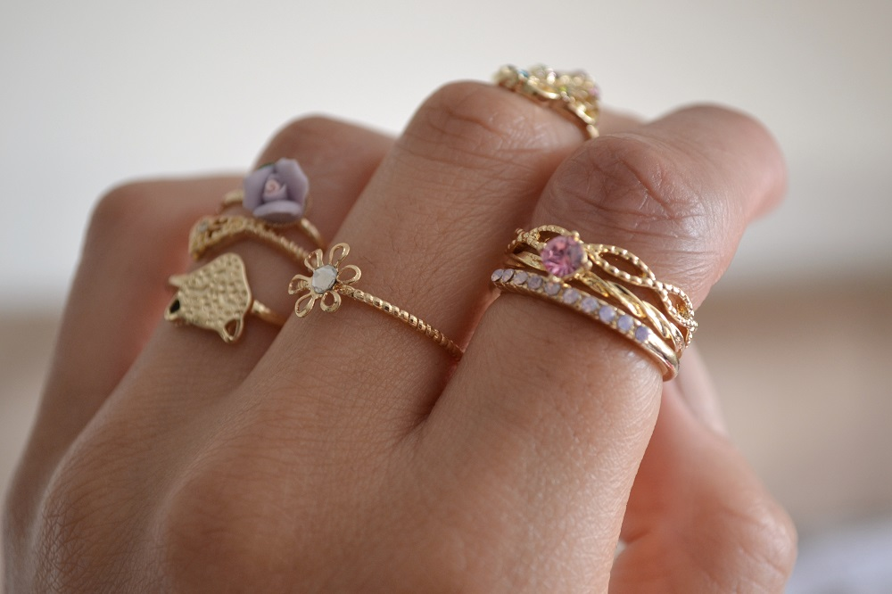 Pretty Gold Rings