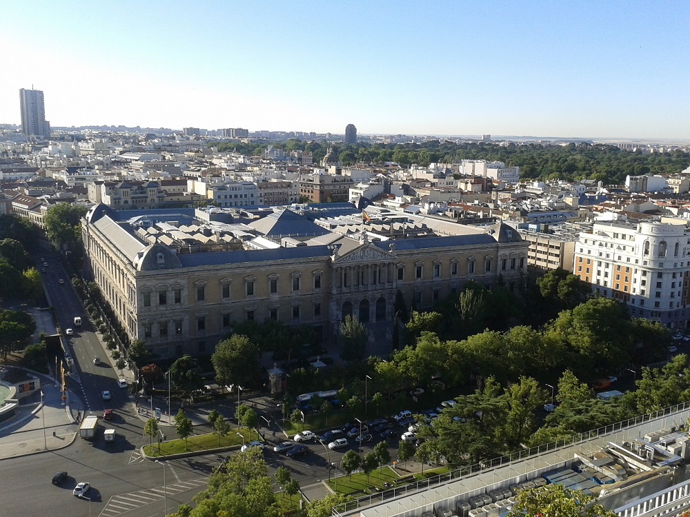 Madrid from a rooftop