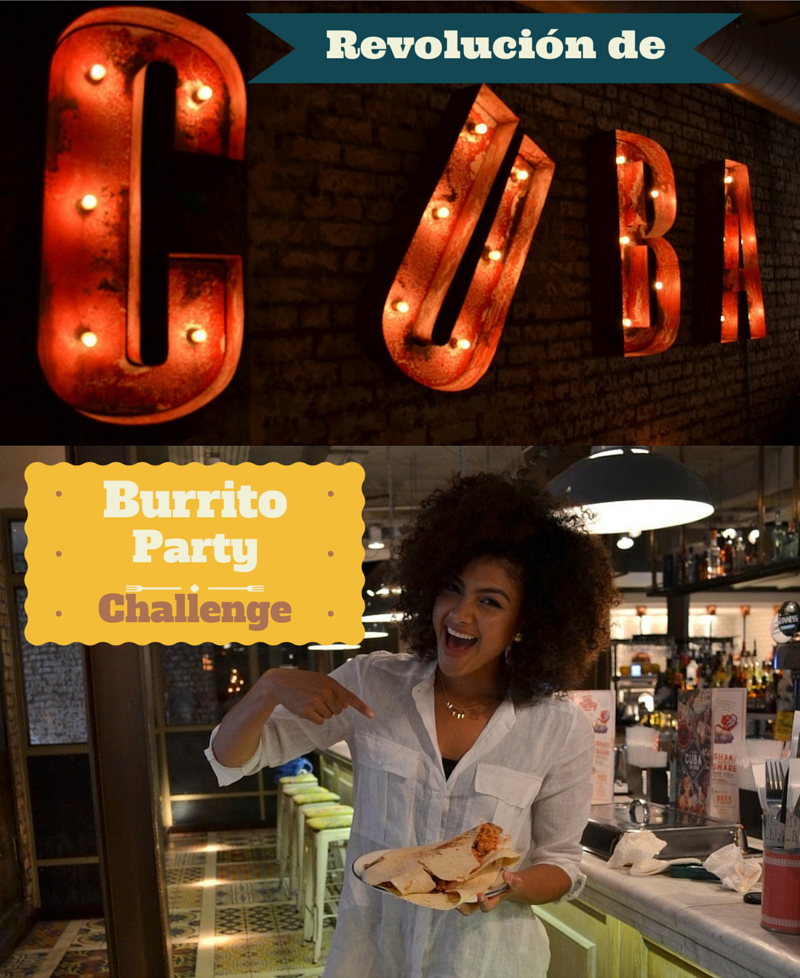 Burrito Party Challenge at Revolución de Cuba