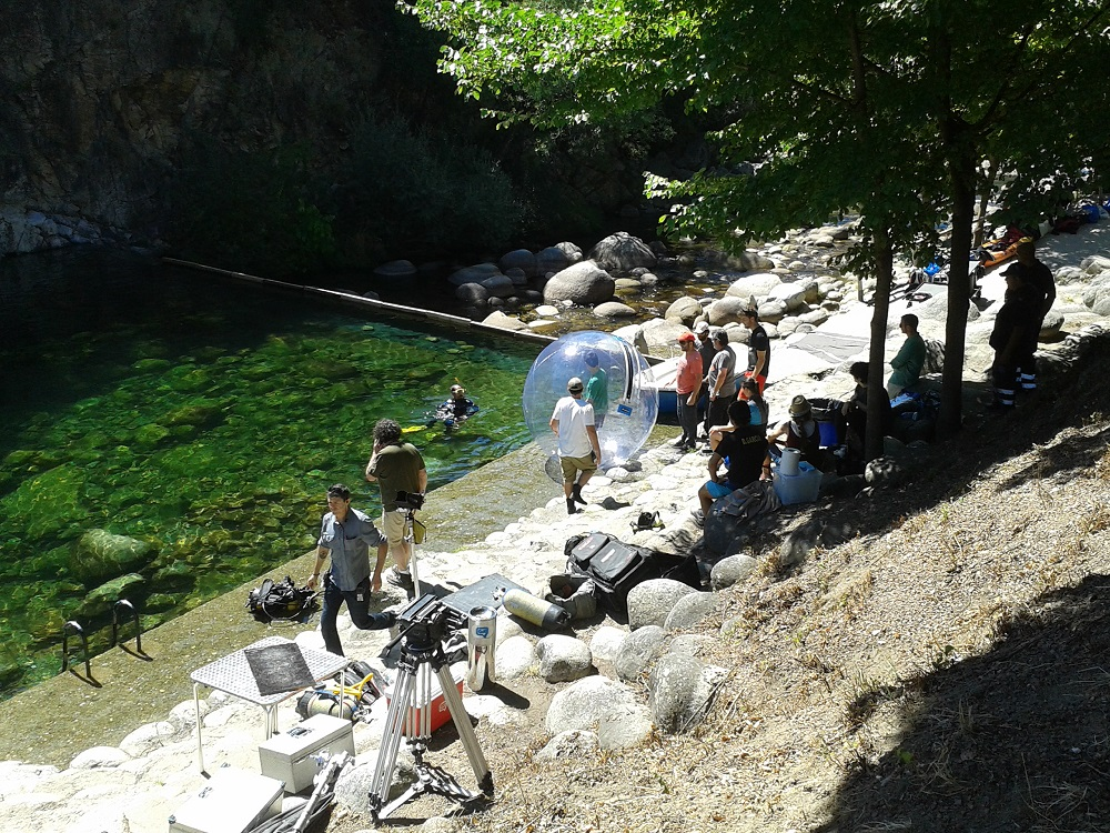 Water walking ball Filming bts