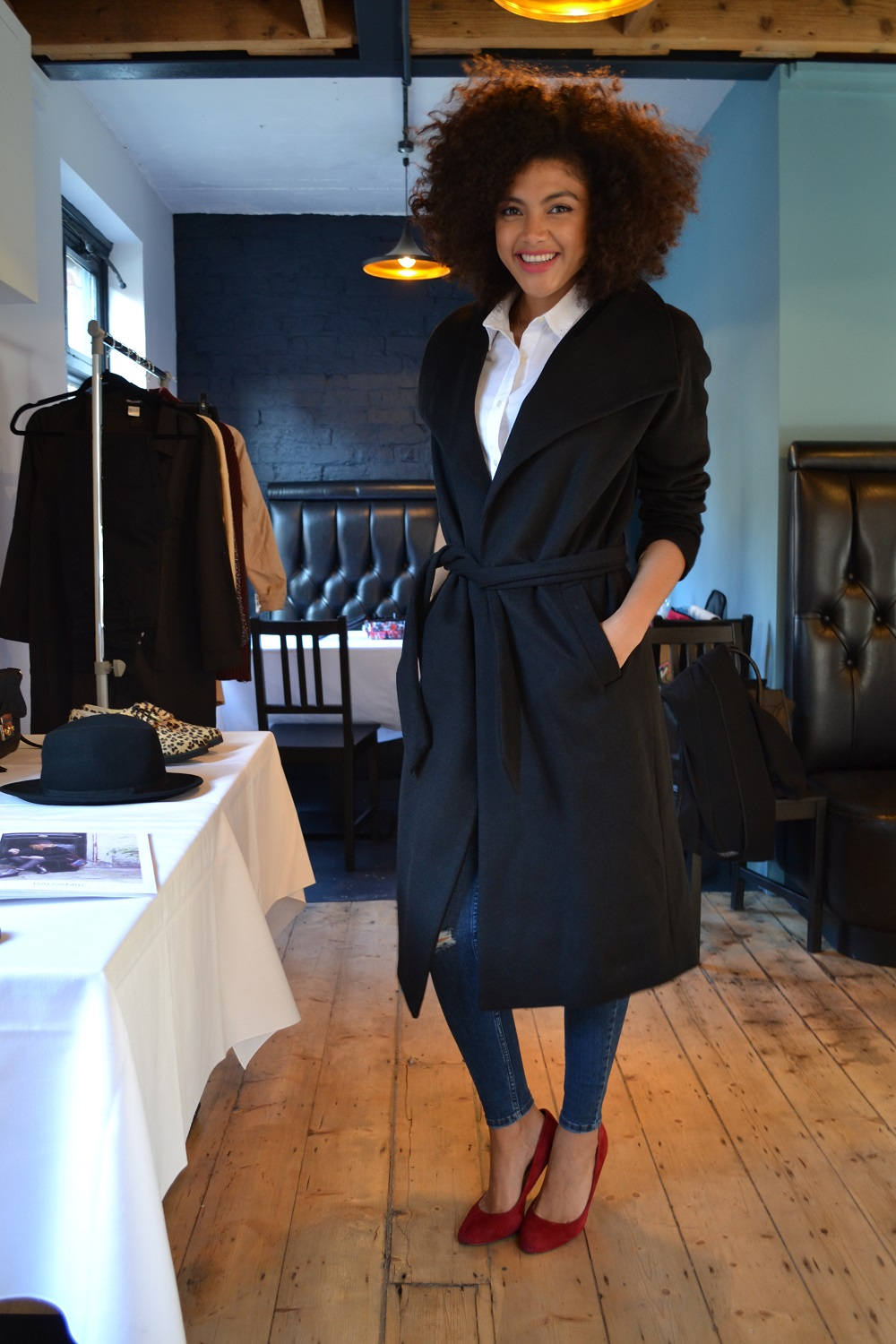 Balsamik stylish house coat black