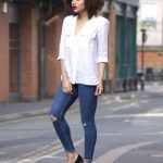 Clarks Anniston Vale Tassel loafer white shirt outfit