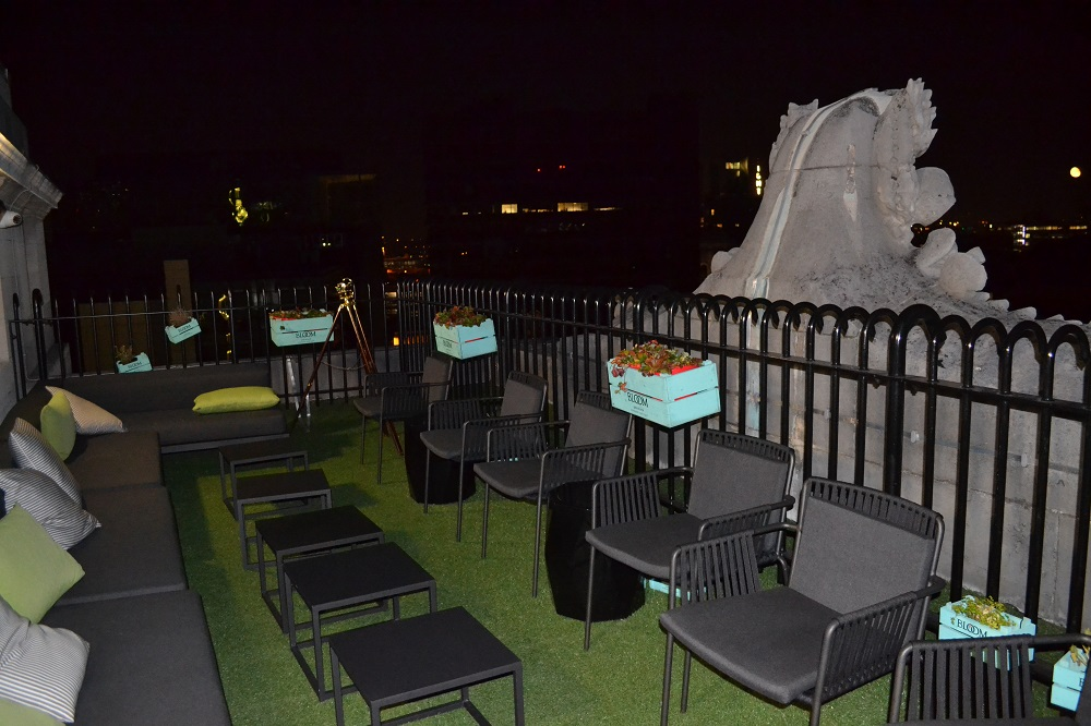 Hotel Gotham Club Brass Manchester Rooftop at Night