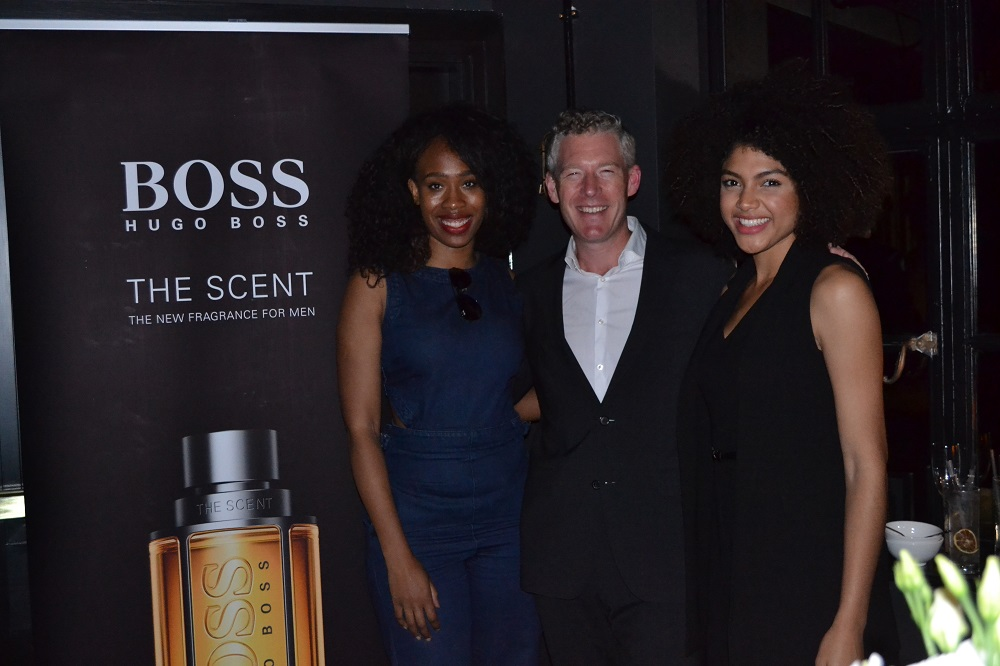 L'oreal Blackett, Will Andrews and Samio at Hugo Boss The Scent Fragrance Launch Club Brass Hotel Gotham