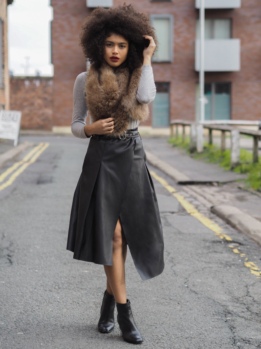 Collection Black Leather Midi Skirt Pictures - The Fashions Of ...