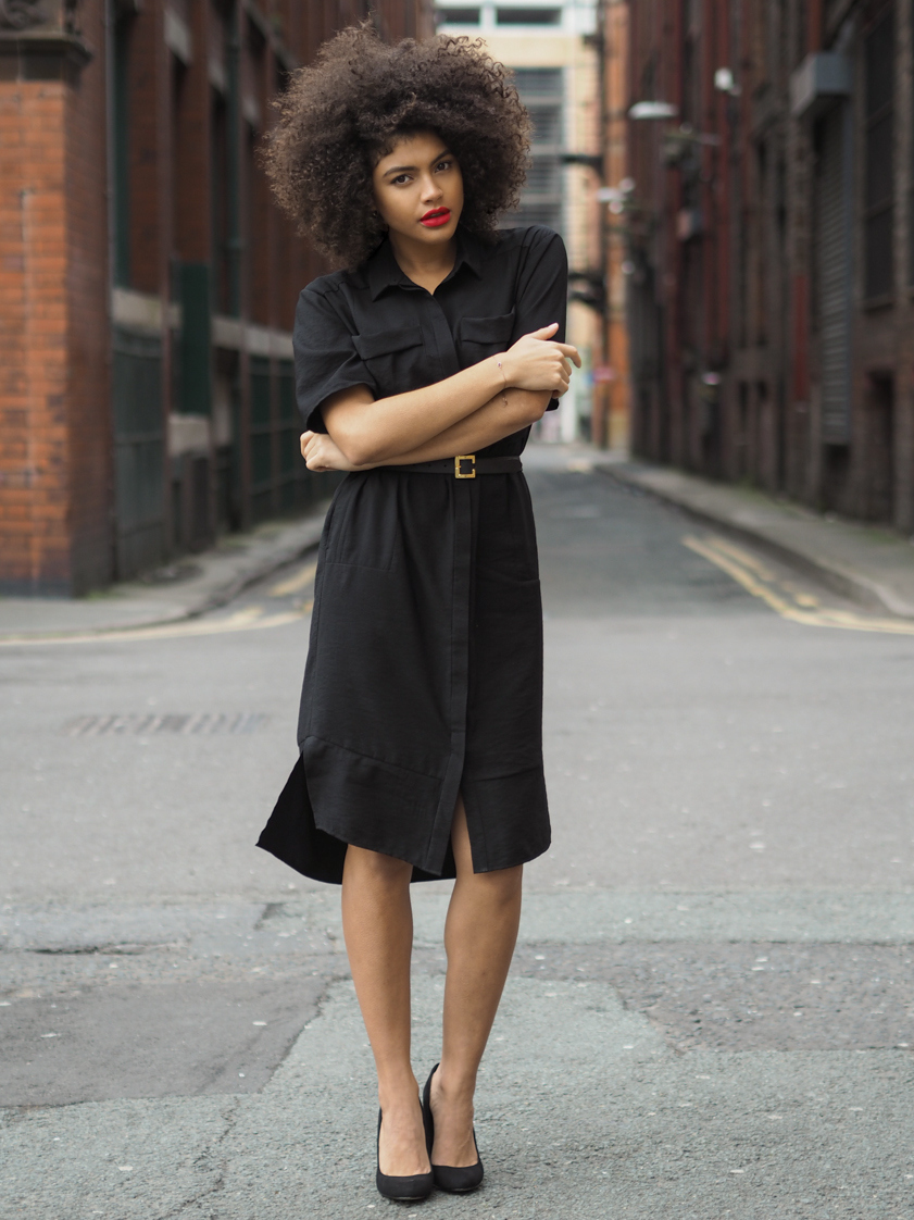 Samio wearing Whistles Shirt Dress