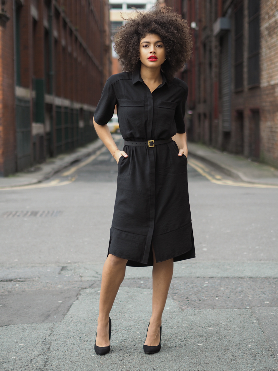 Whistles Plain Longline Shirt Dress