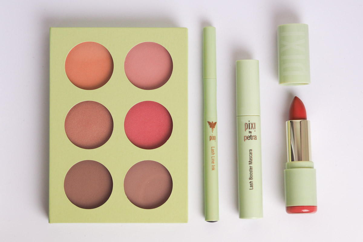 Pixi Beauty Blush, Eye Liner, Mascara and Lipstick Review