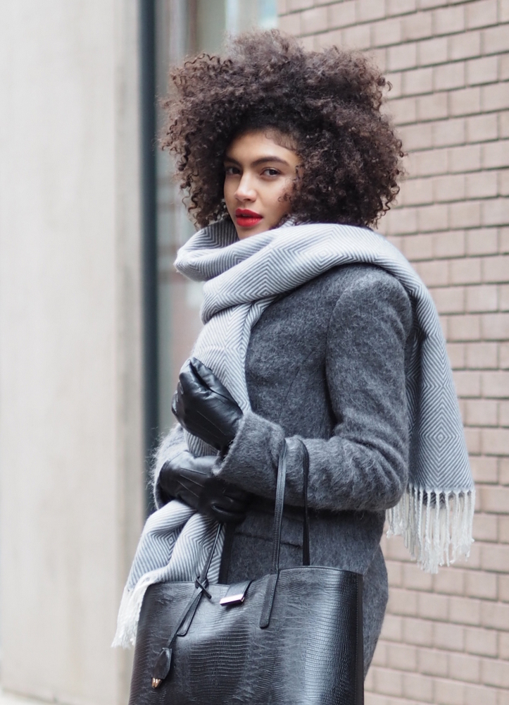 Style blogger grey layers Winter Outfit