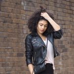Biker jacket styling