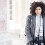 Roll Neck and grey coat outfit