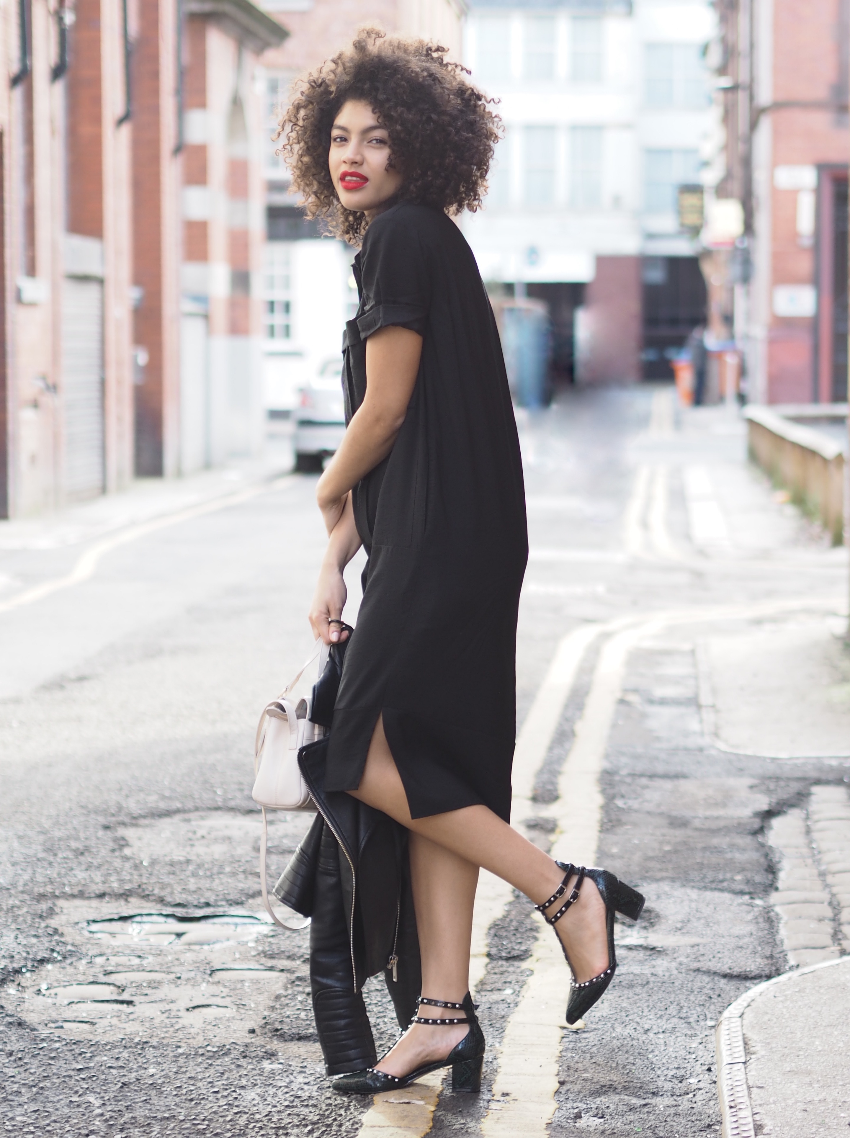 Whistles Black Shirt Dress
