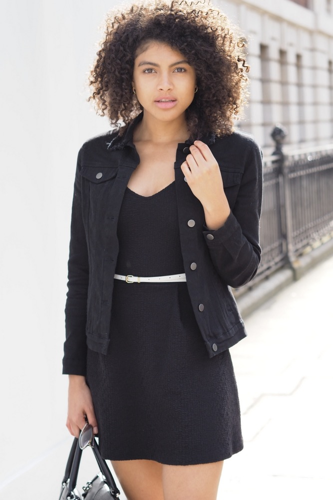 Womens all black outfit styling