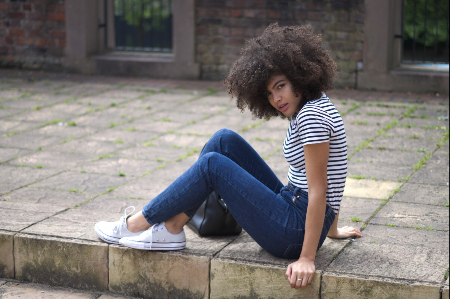 ASOS Farleigh jeans and converse outfit