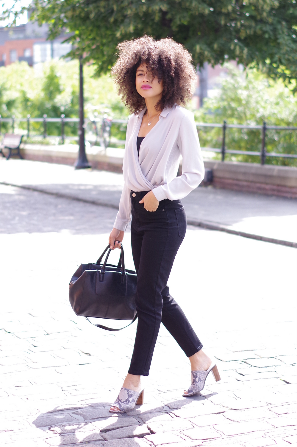 Womens Black and grey outfit
