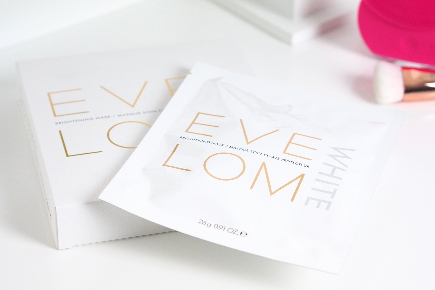 eve lom white brightening masks