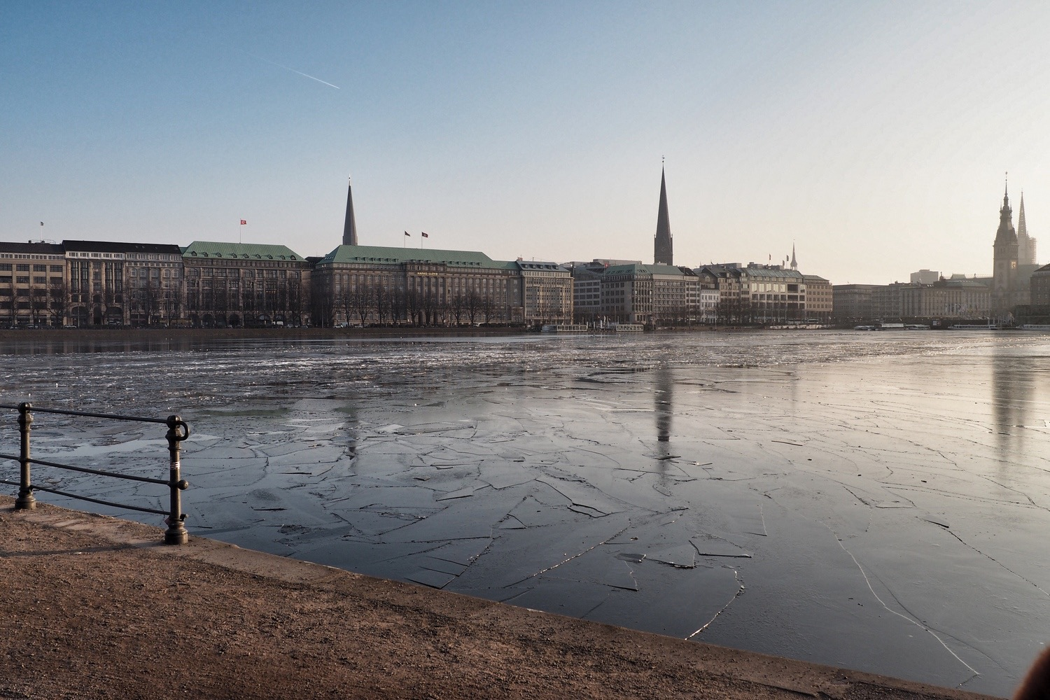 Hamburg frozen lake