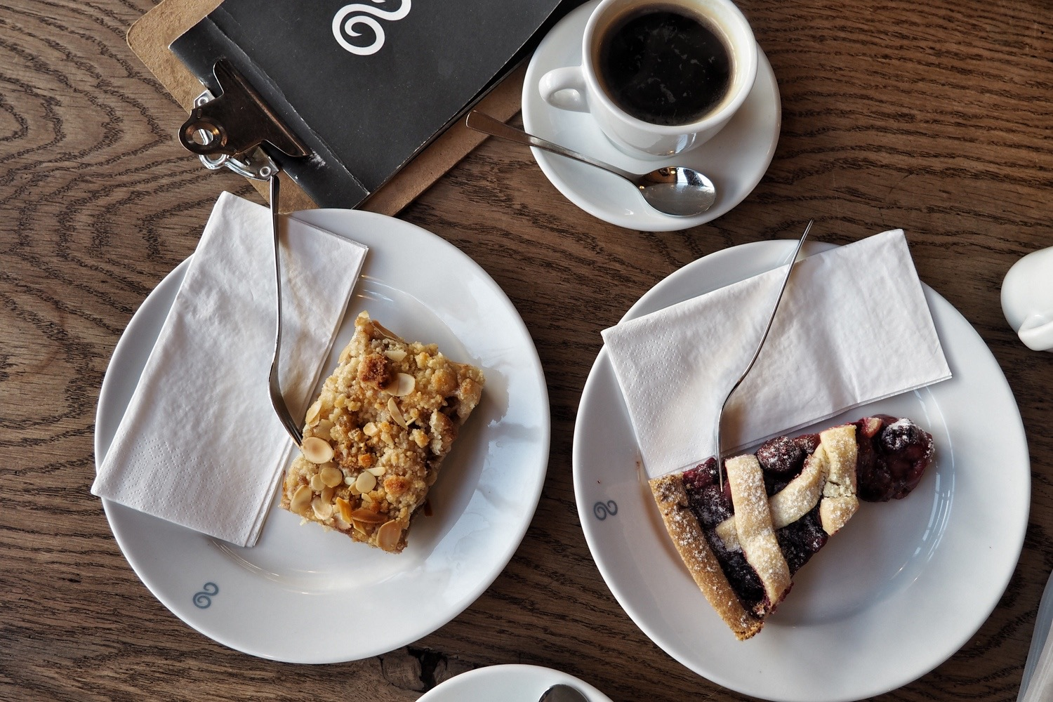 Vegan Pie Cake and Coffee at Elbgold Hamburg