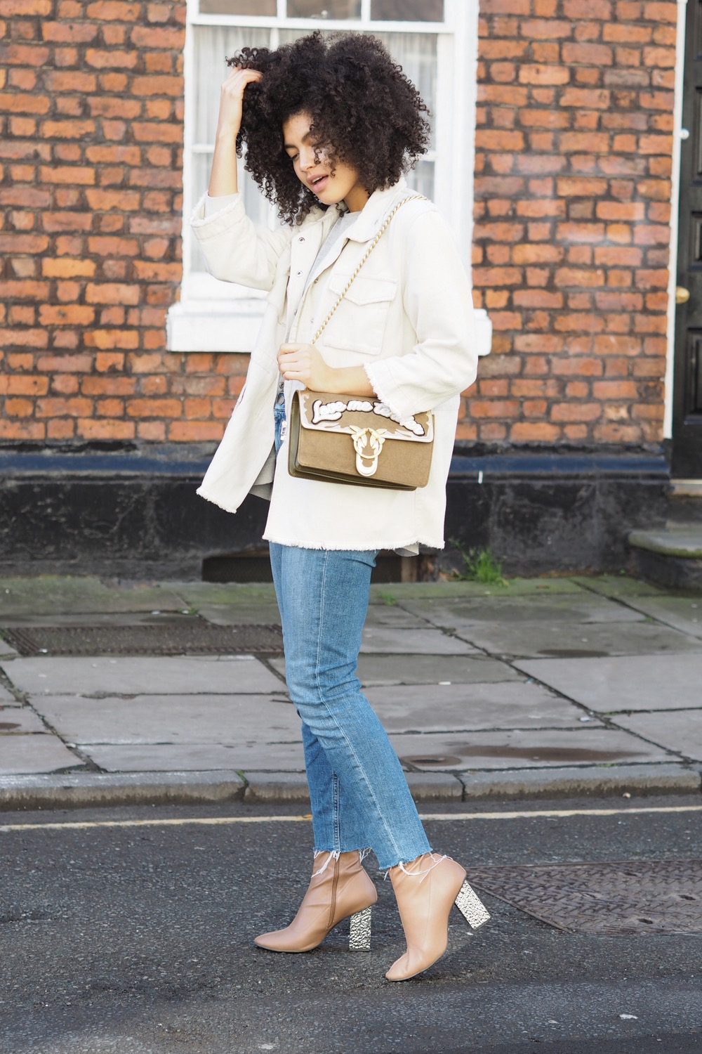 Manchester Spring Outfit Pinko Love Bag