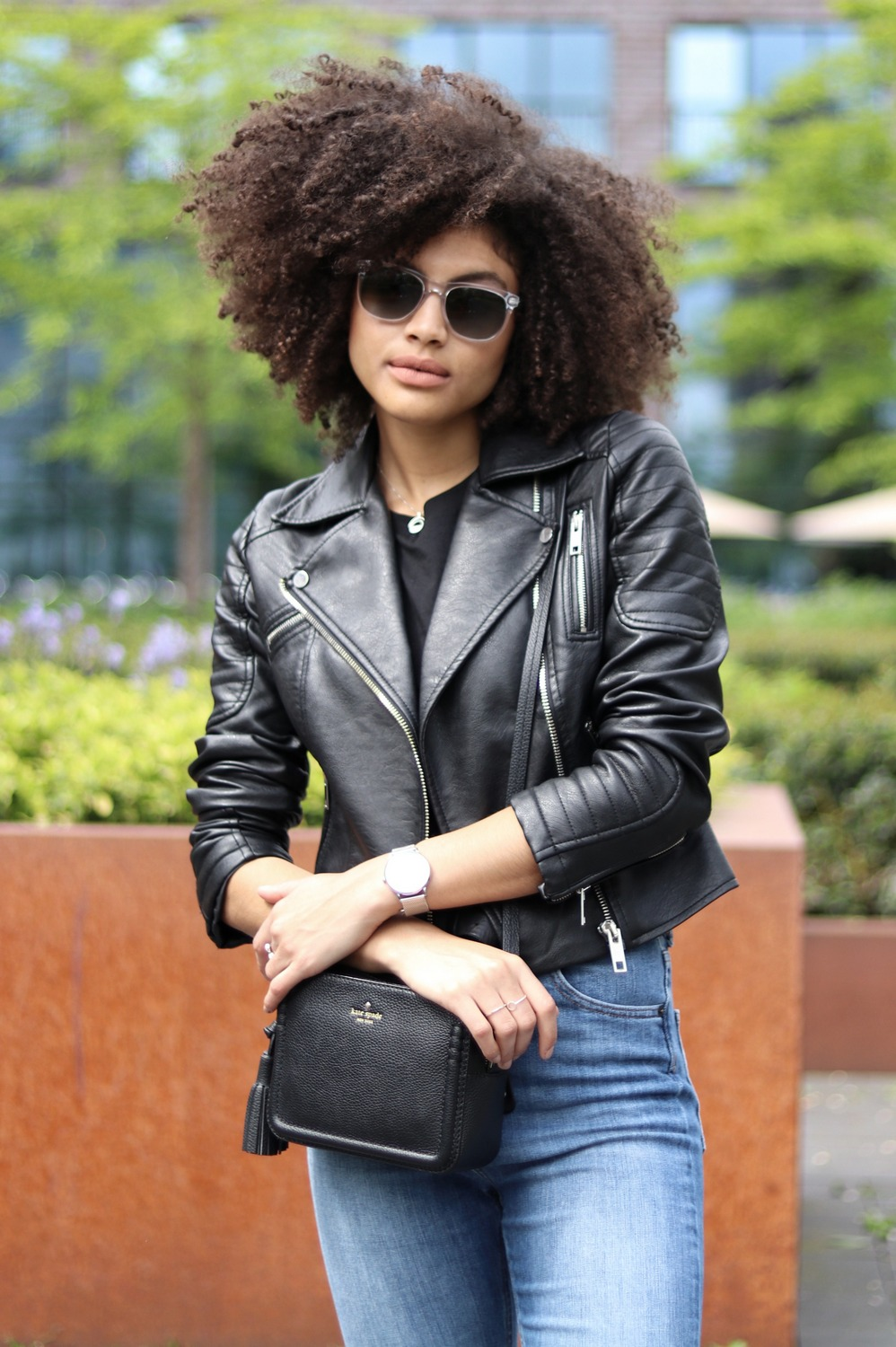 Faux Leather Biker Jacket Womens