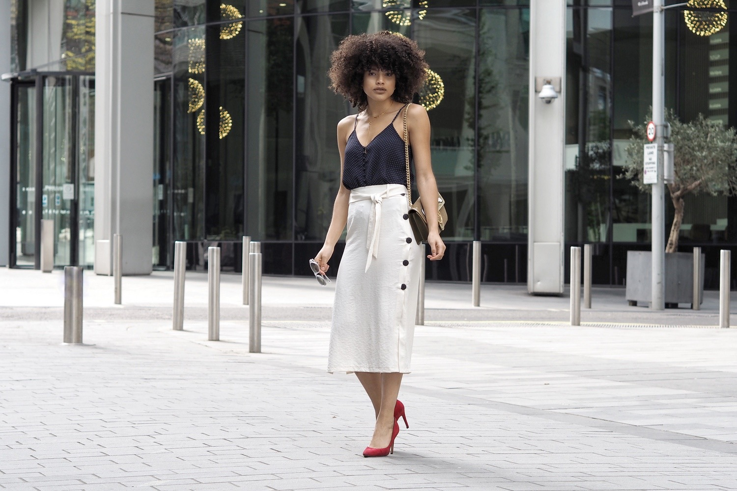 Topshop white midi skirt style blogger outfit