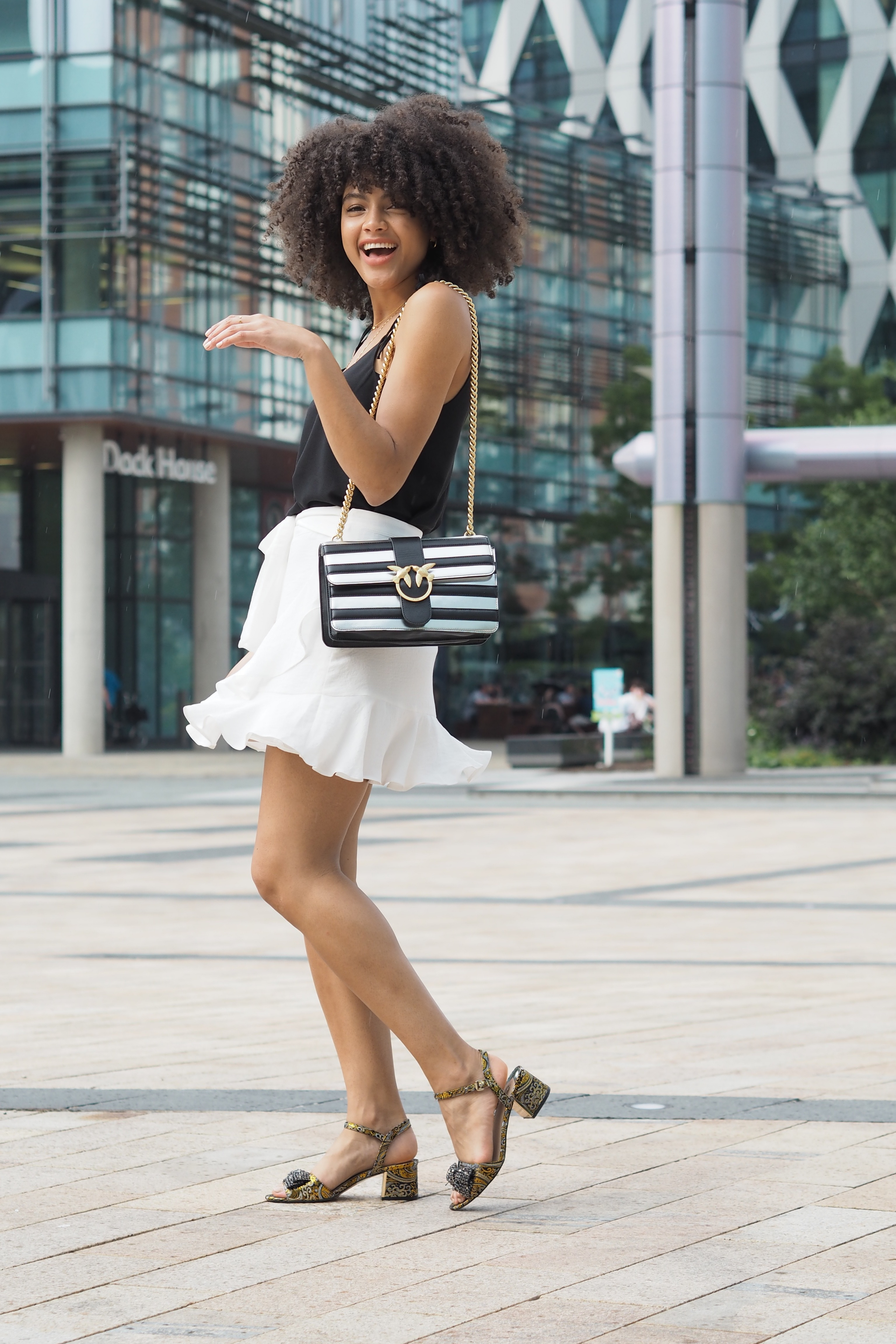 Topshop Ruffle Tie Mini Skirt Outfit