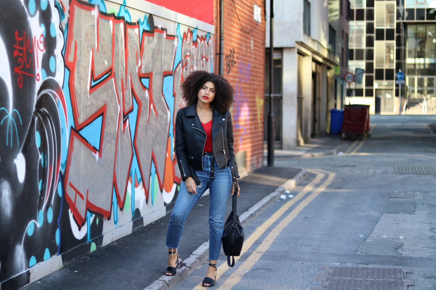 Manchester Fashion Blogger Graffiti Street Style