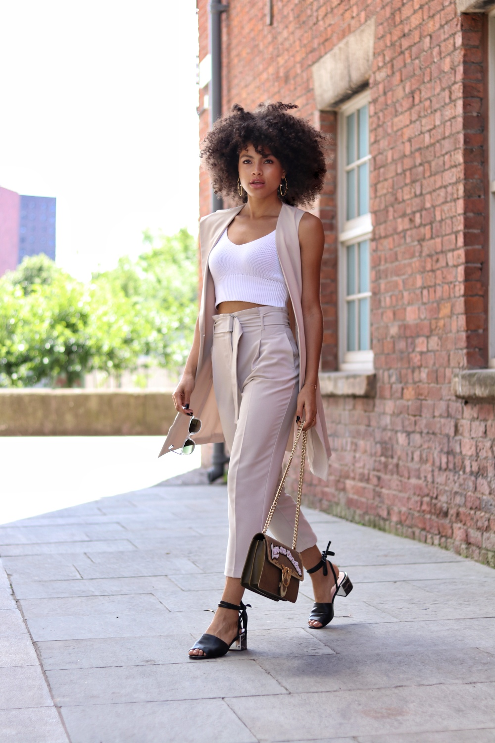 Nude Beige Womens Summer Outfit