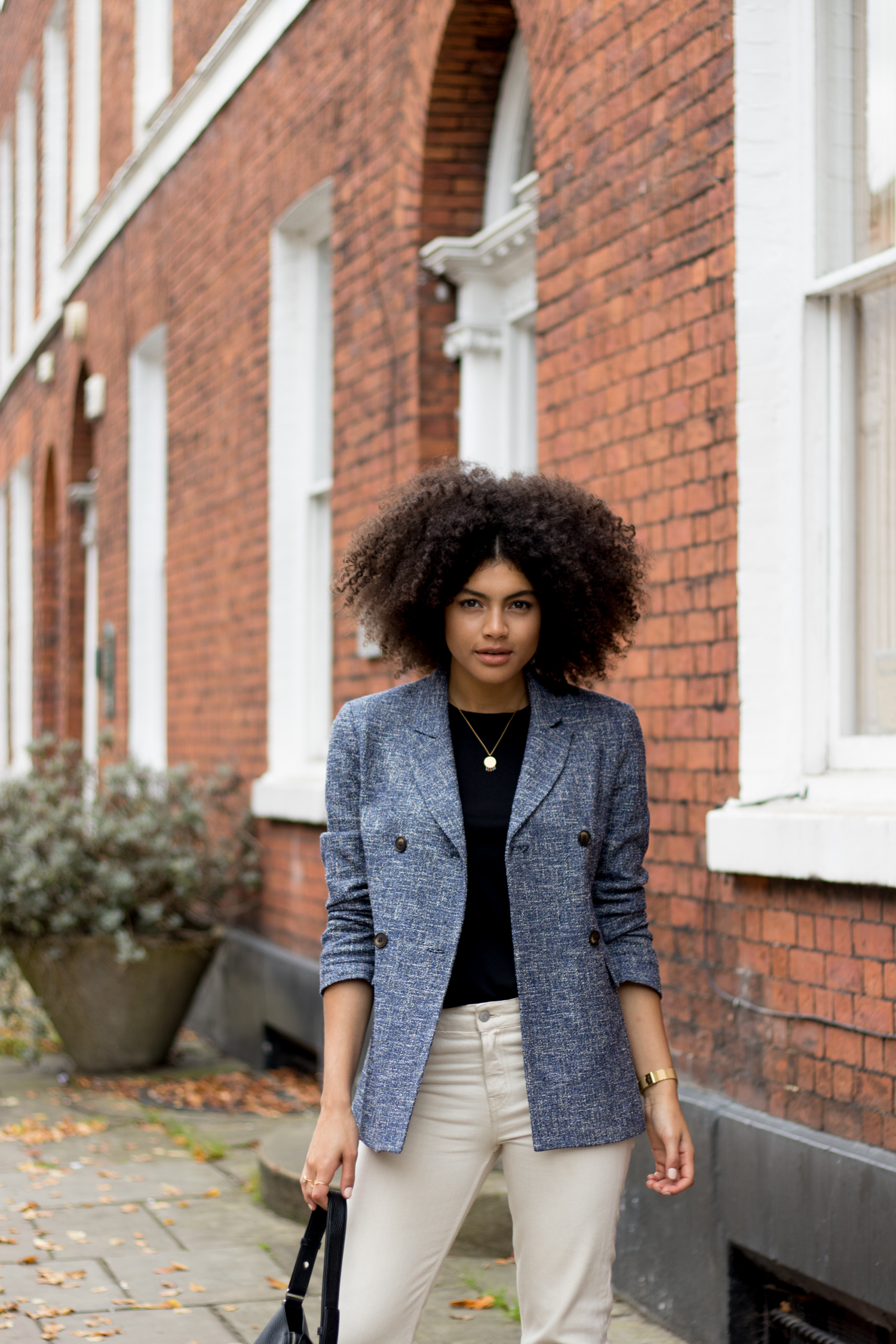 Blue Topshop Blazer Everyday Smart Casual Outfit Styling