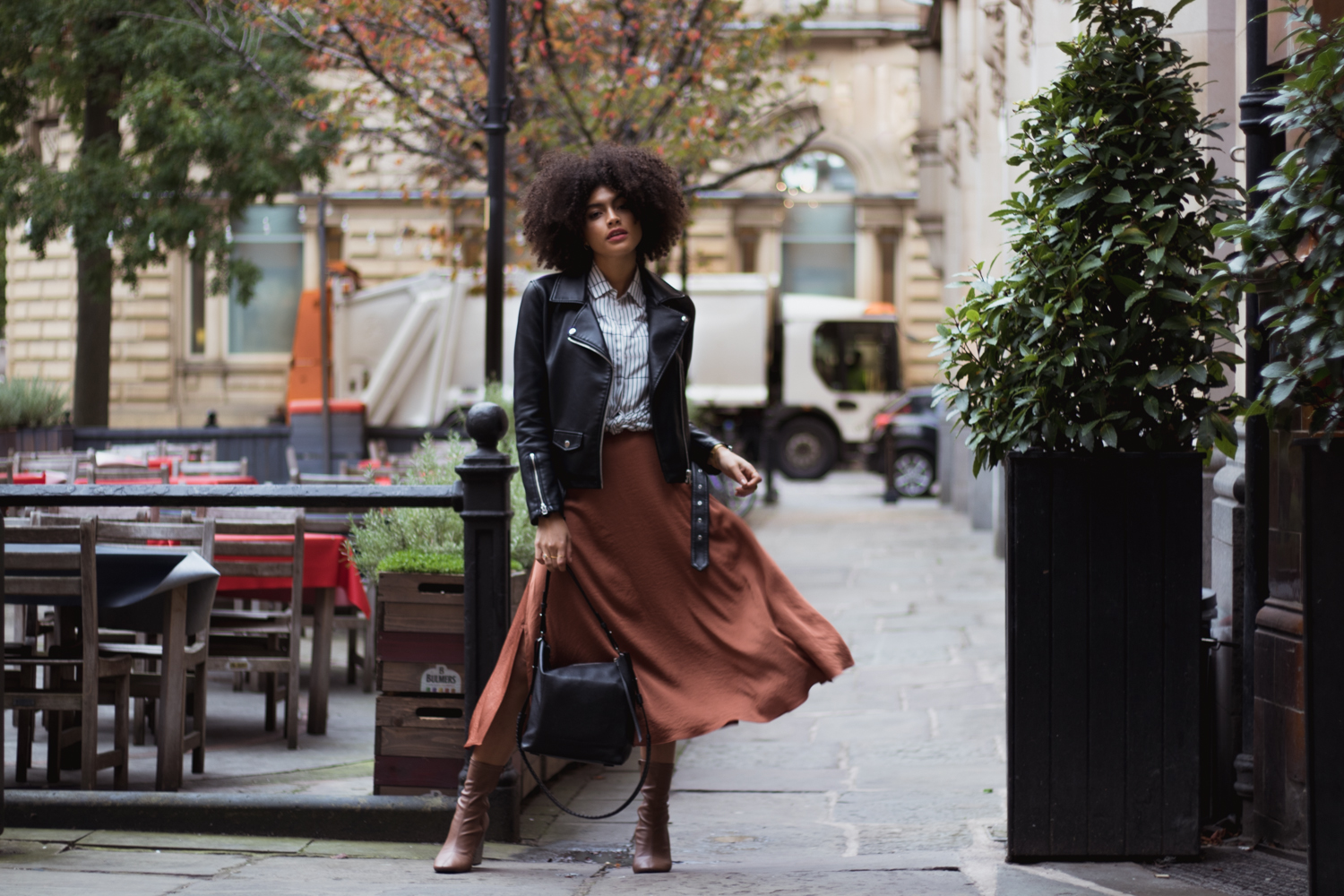 Autumn Midi skirt Outfit inspo