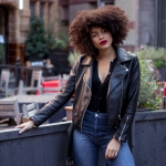Samio Faux Leather Biker Jacket Outfit