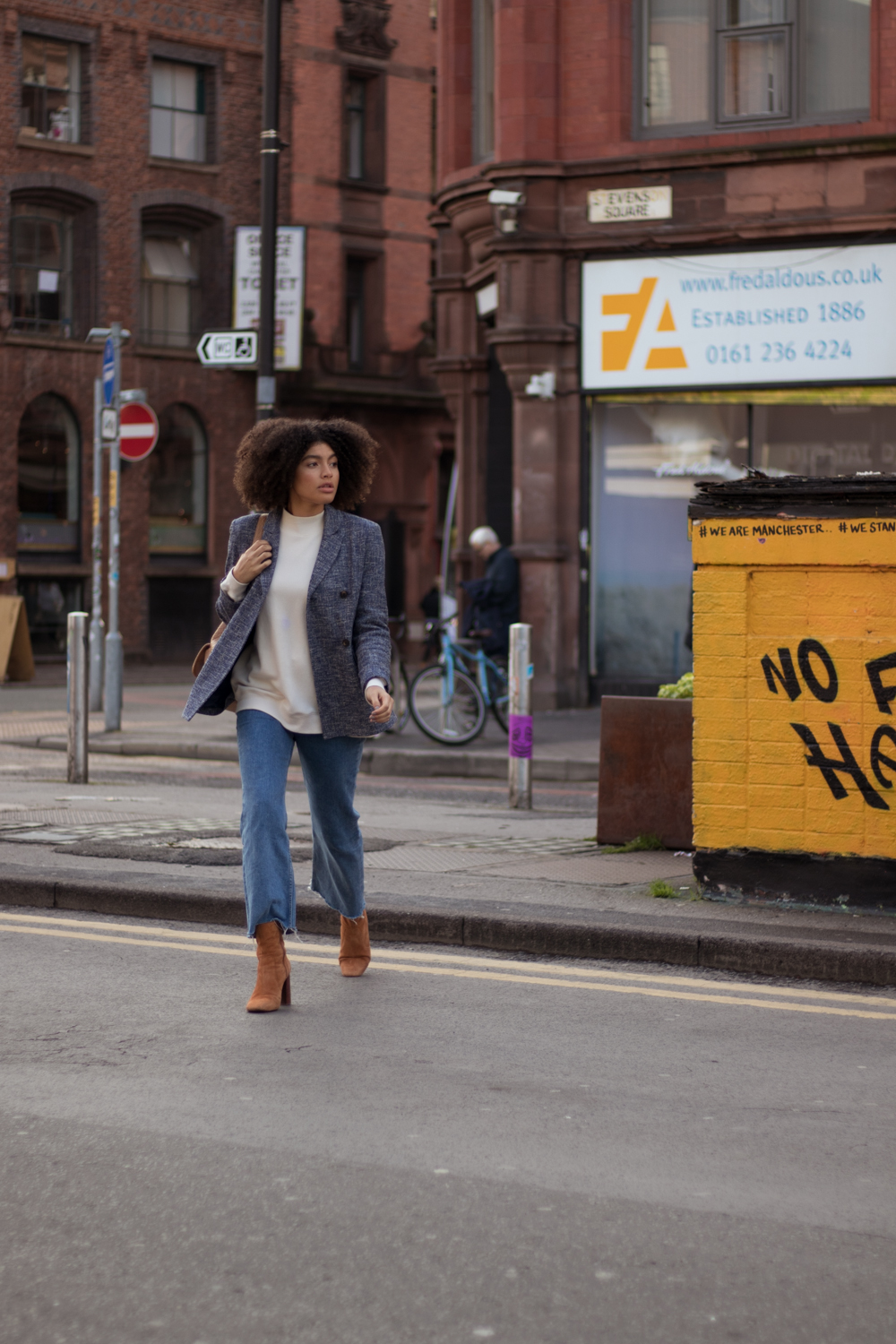 Candid Street Style Outfit Shot Manchester