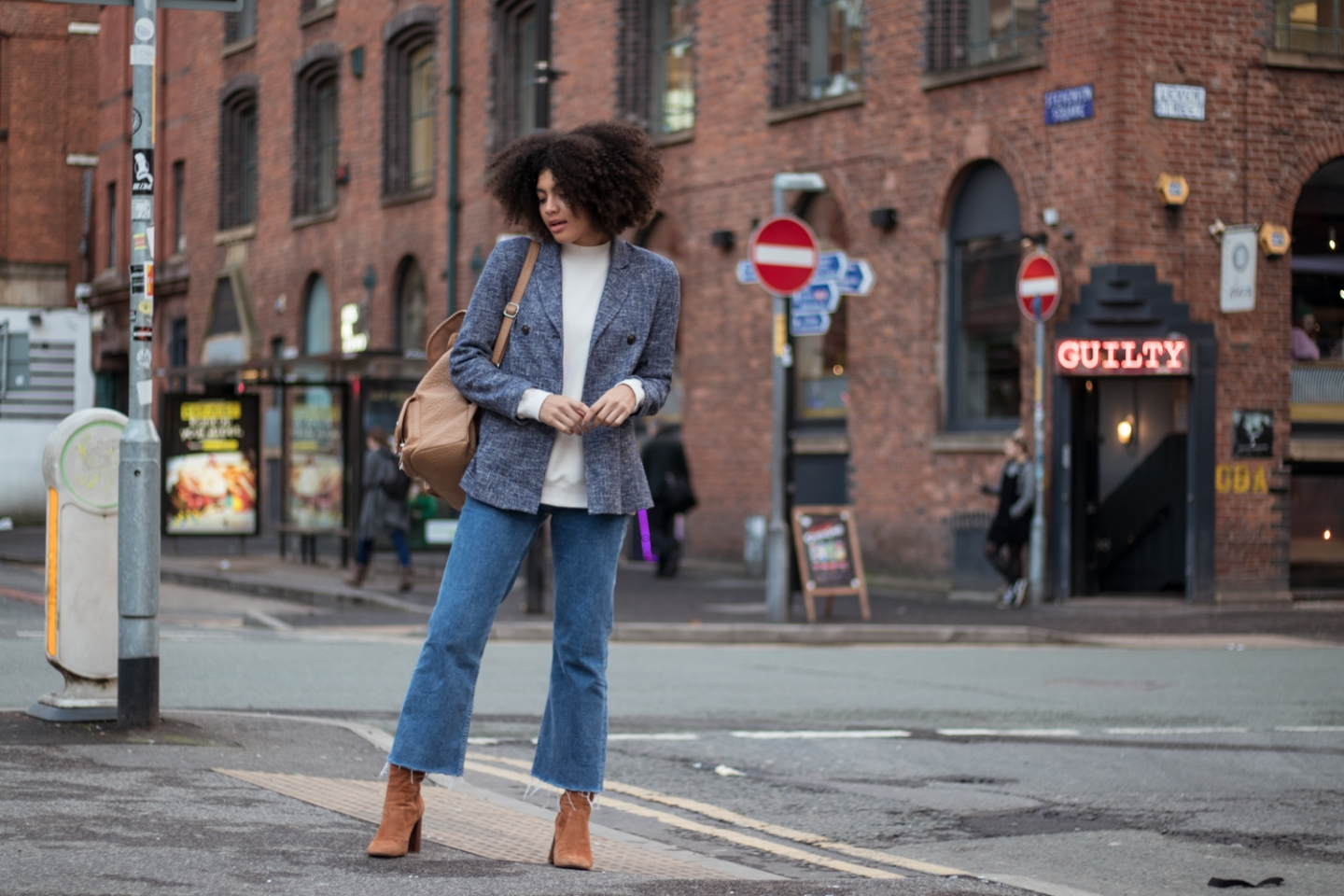 Cropped Flared Denim & Other Stories Outfit