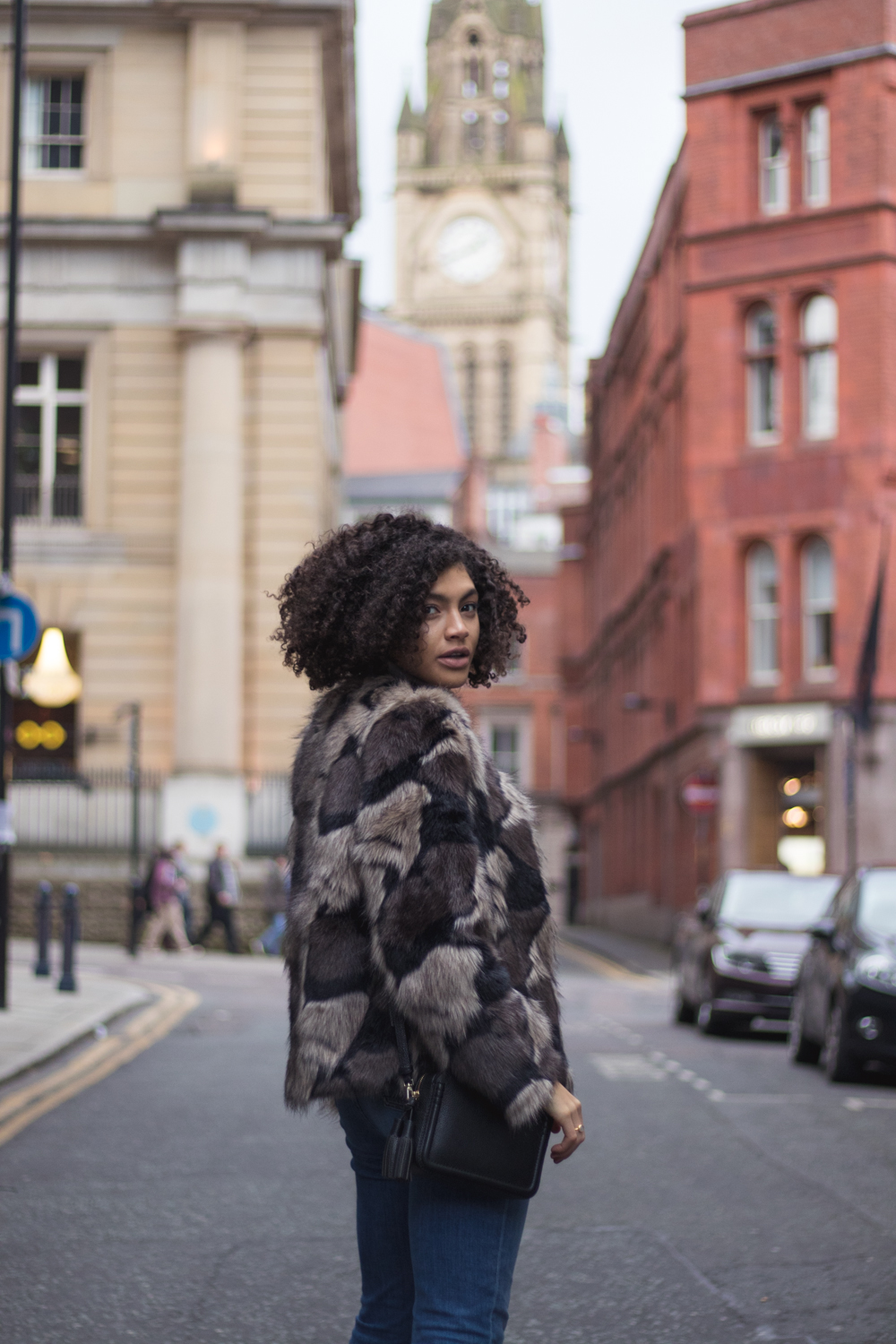Faux Fur Coat Manchester Street Style