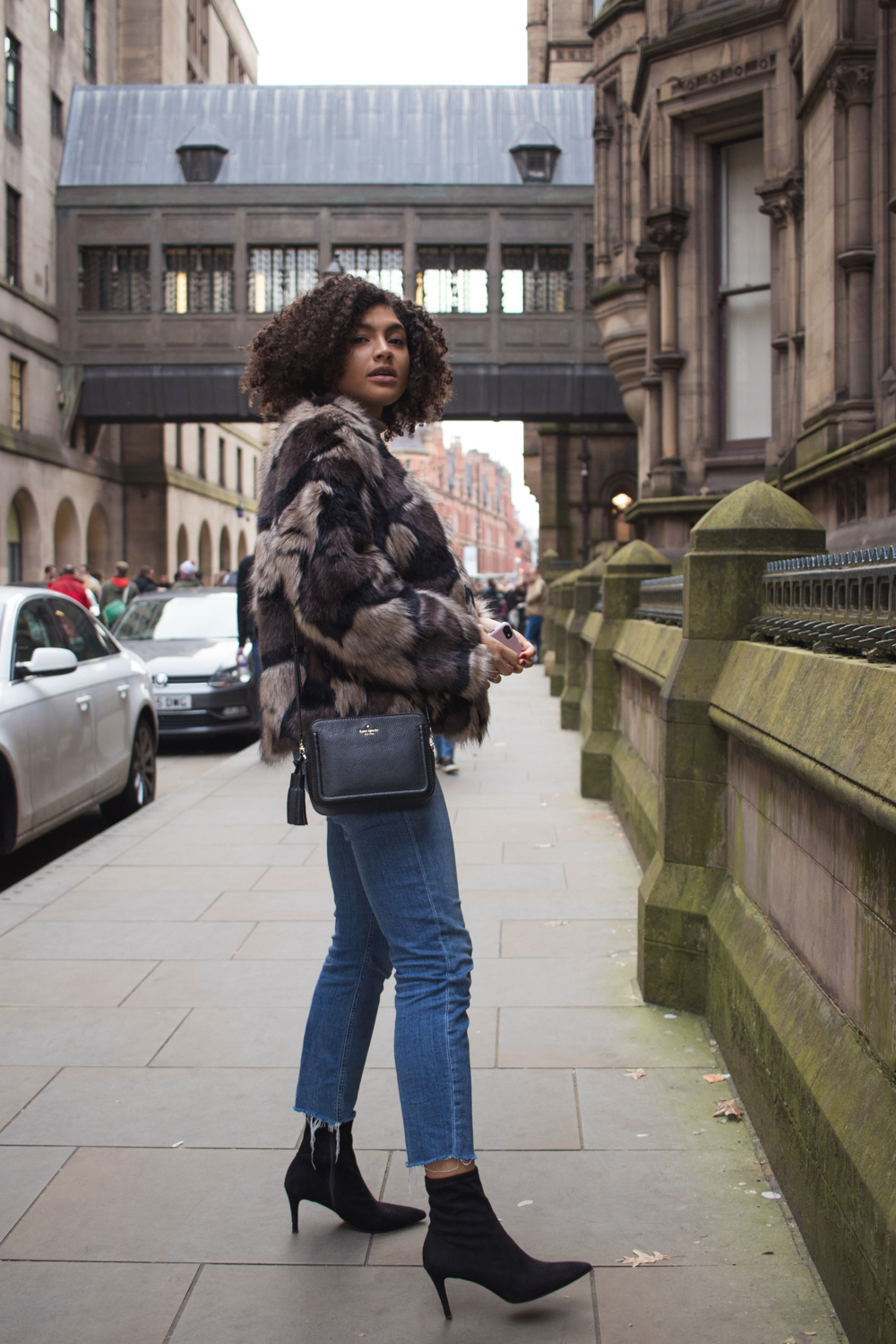 Marks and Spencer Stiletto Heel Stretch Ankle Boots and jeans outfit Manchester