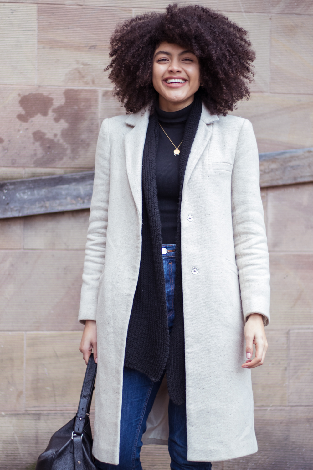 Asos slim coat in wool blend oatmeal