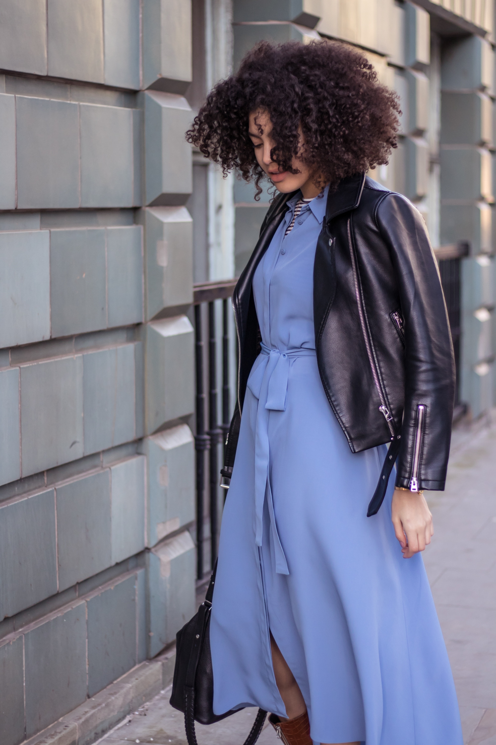Cornflower blue Finery shirt dress