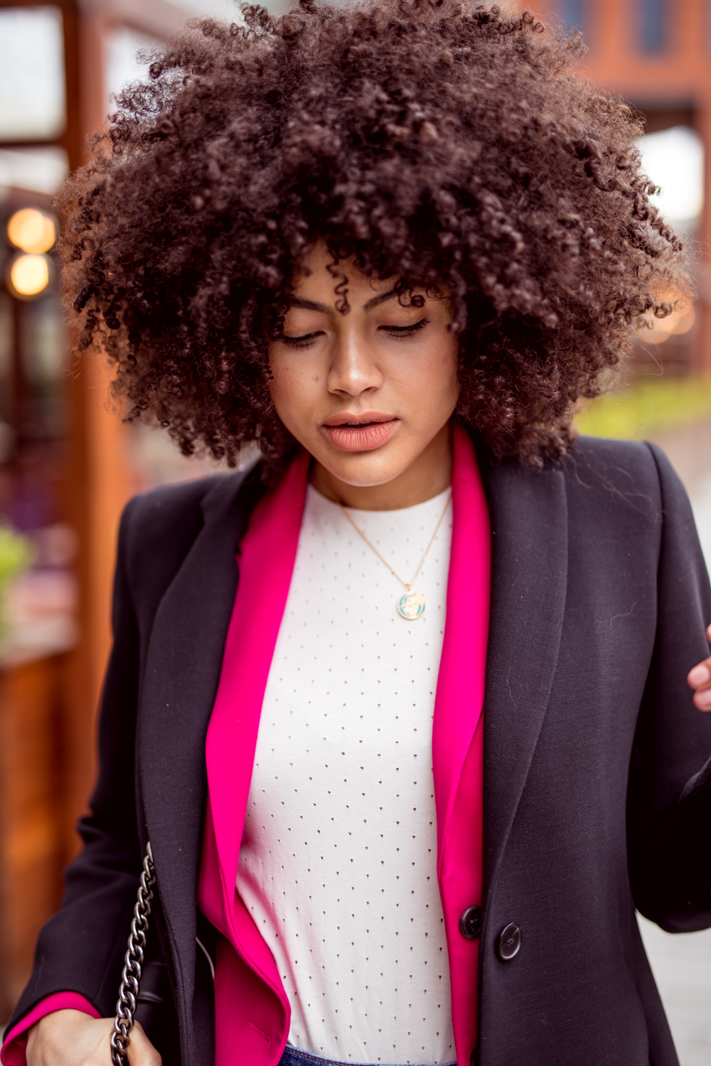 Pink French Connection Blazer and Jigsaw Jacket Layering