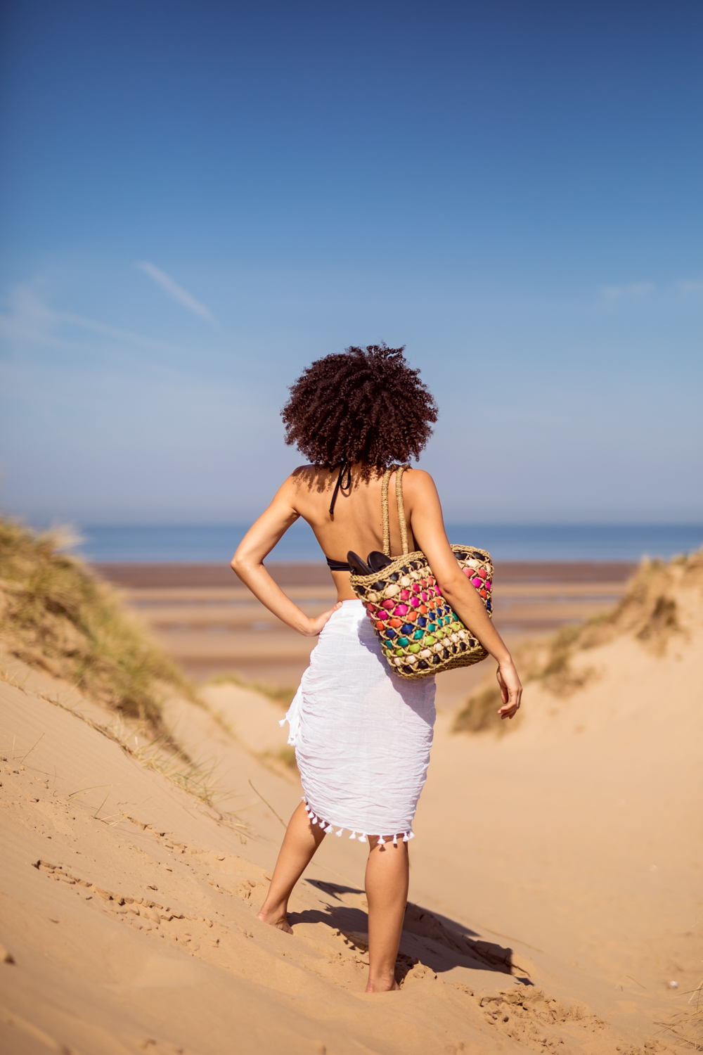 Therapy Rainbow Straw Beach Bag and Seafolly Sarong