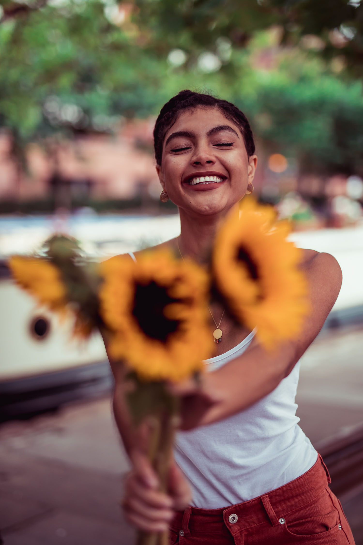 Samio Sunflowers Portrait Photography