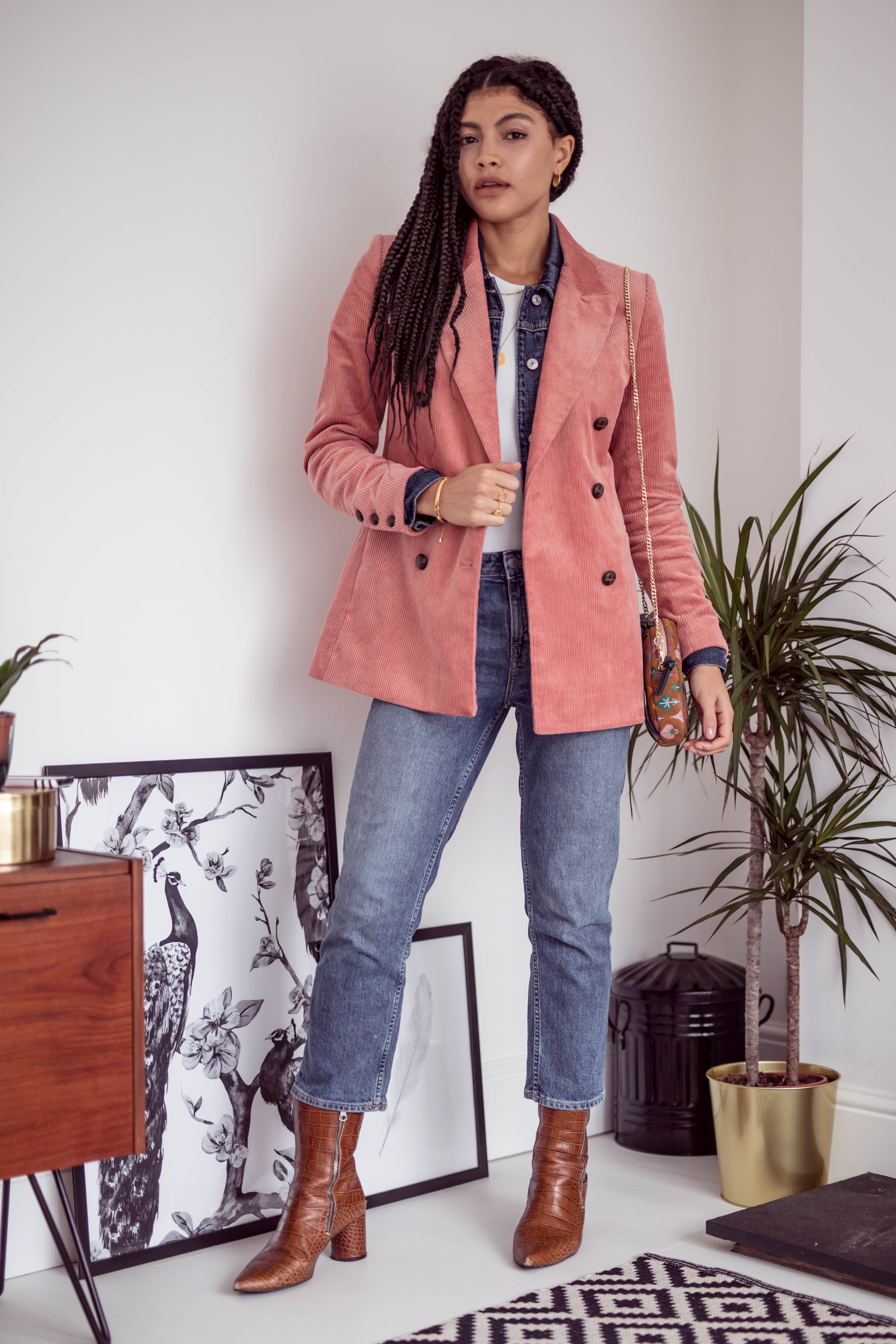 Ways to wear double denim layering Samio Manchester blogger